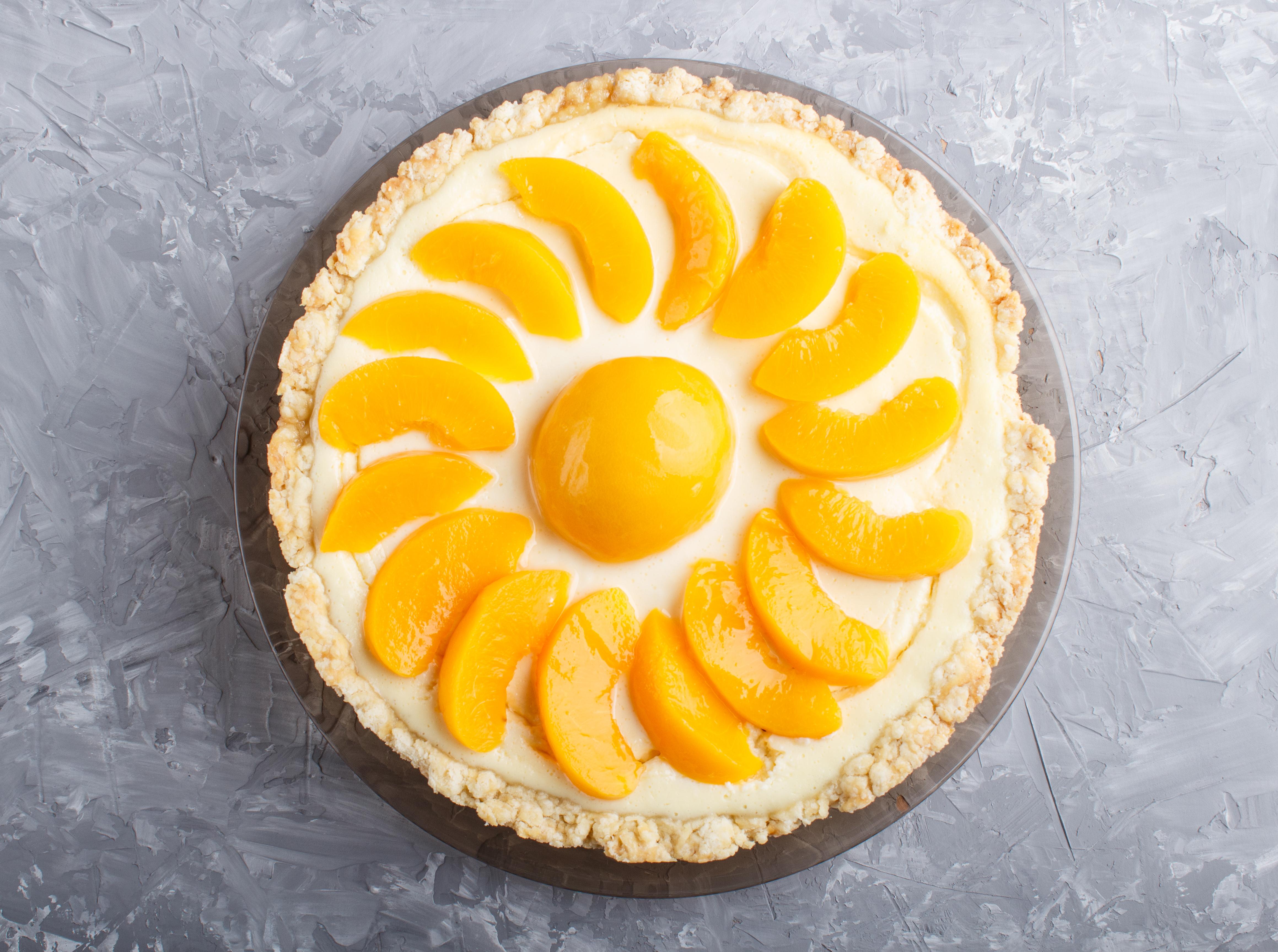 Peach Cheesecake Pie