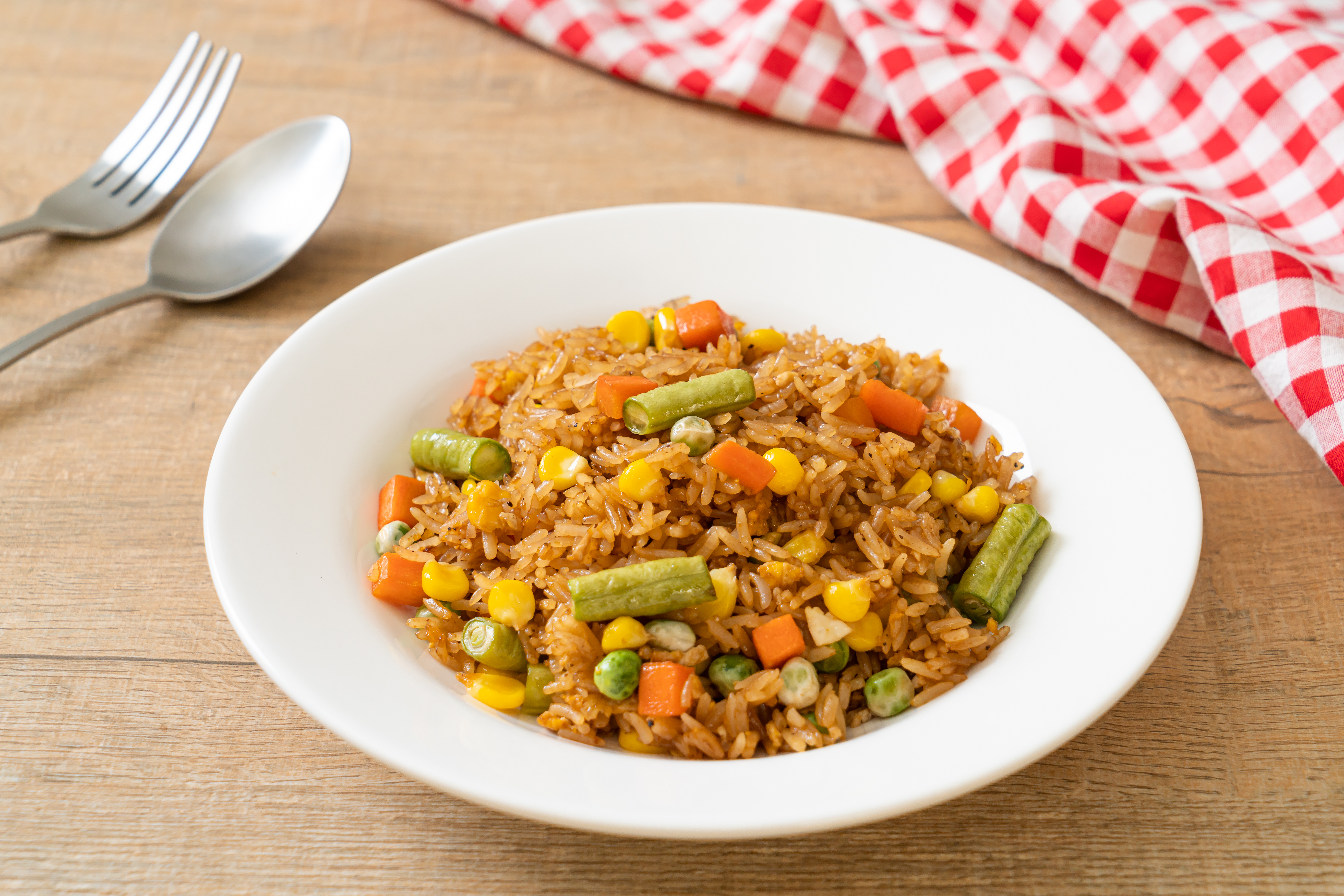 Vegetarian Fried Rice with Sweetcorn