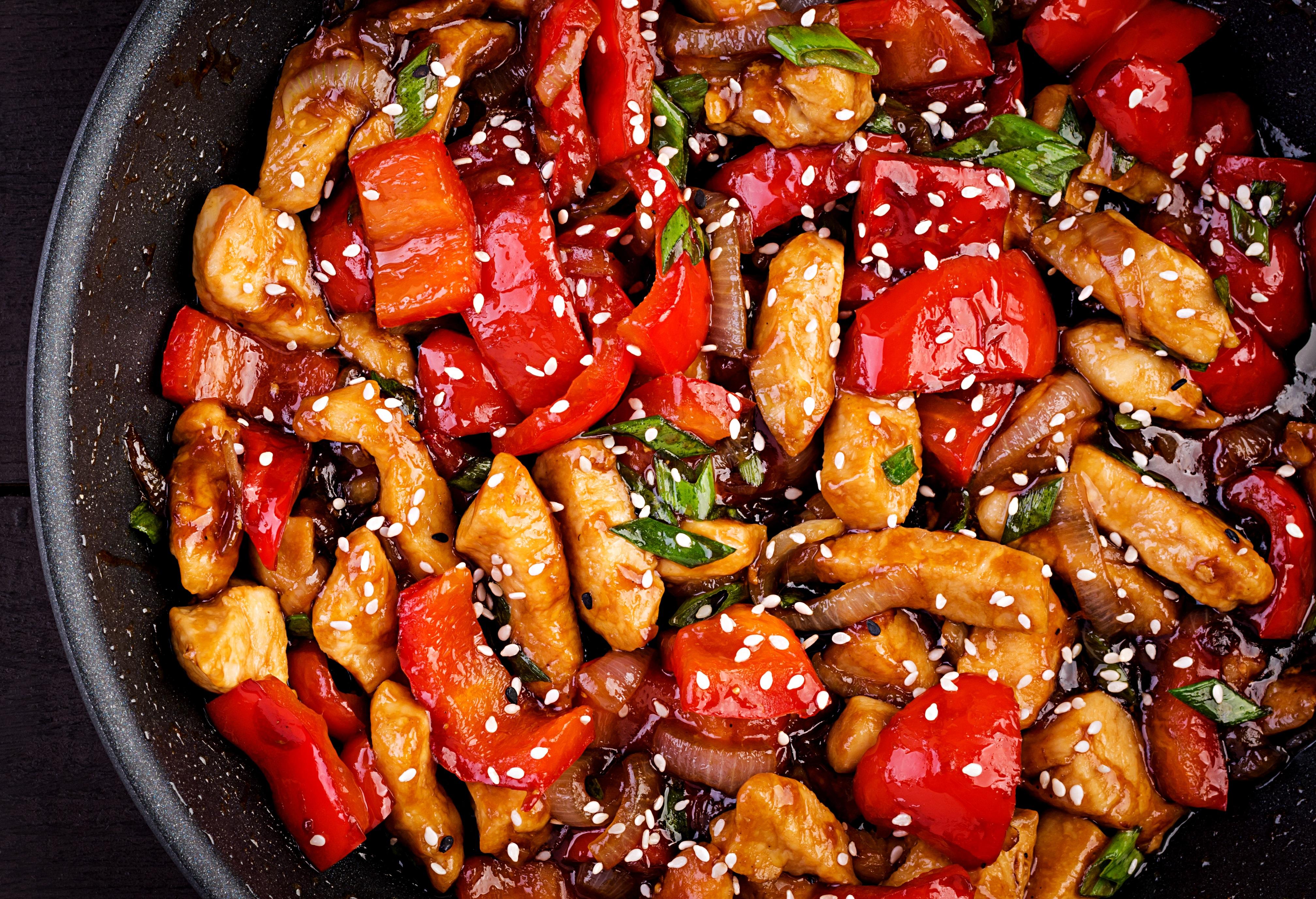 Szechuan-style Stir-fried Chicken (Gong Poh Kai Teng)