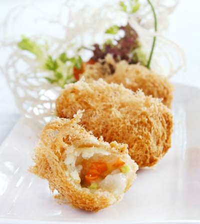 Crispy Scallop & Sweet Potato Croquettes