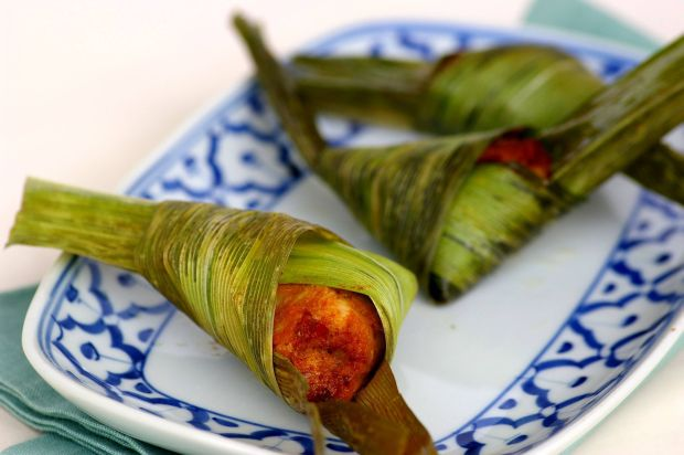 Deep-Fried Minced Seafood in Pandan Leaf