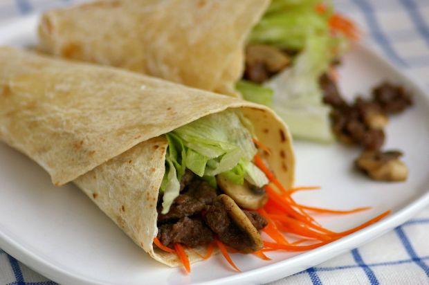 Minced Beef in Tortilla Wrap