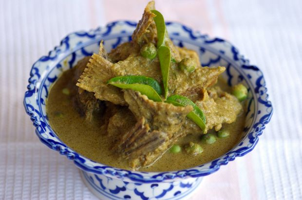 Green Curry Fish Head by Amy Beh