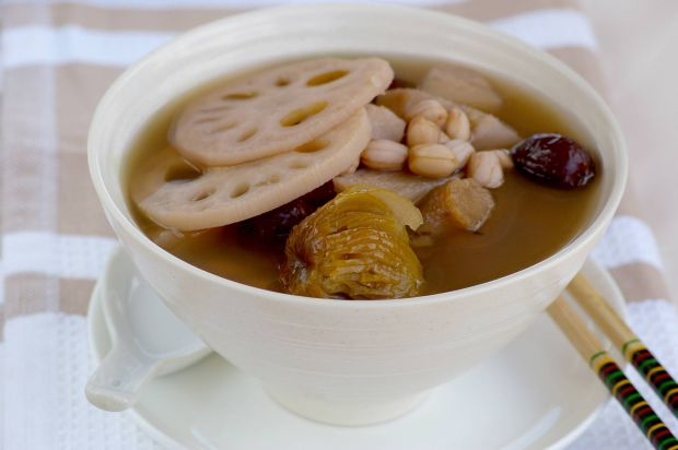 Lotus Root And Peanut Soup