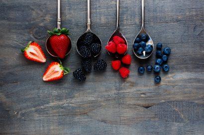 berries dessert background