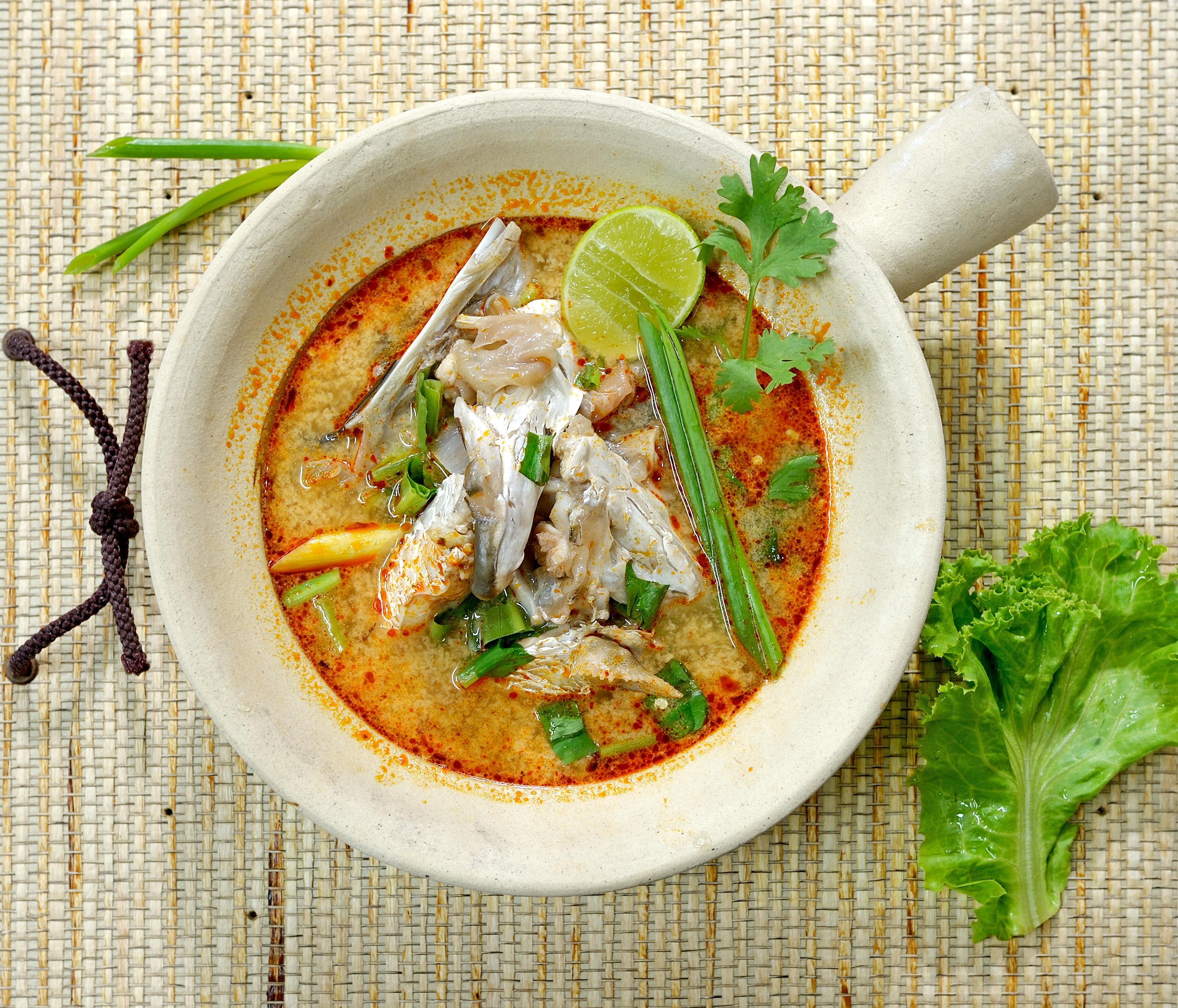 Thai style fish head