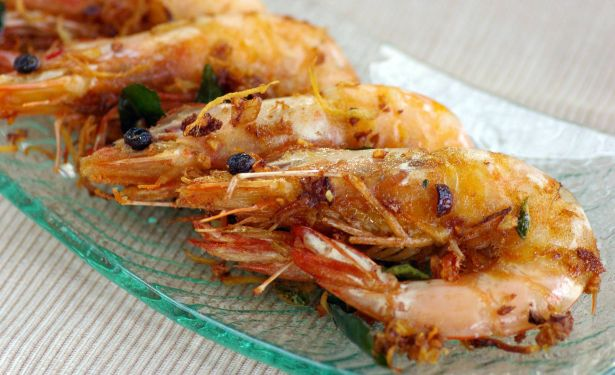 ginger garlic prawn
