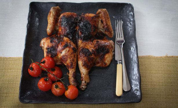 Roasted Chicken with Guinness Butter