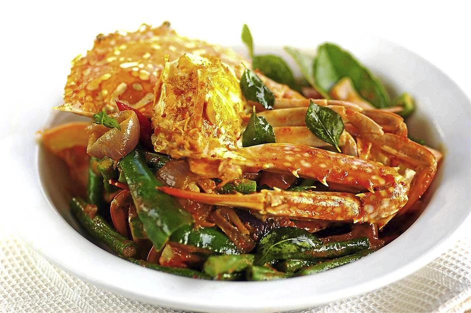 Spicy Stir-fried Crabs