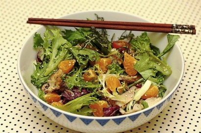 Roast Chicken And Mandarin Orange Salad
