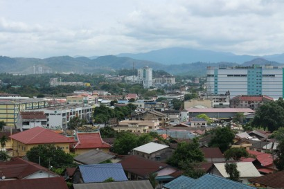 A view of Kajang from the highest elevation in Sungai Chua.