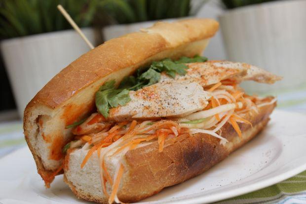 Banh Mi (Vietnamese Chicken Sandwich)