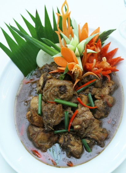 The Nyonya Pongteh Chicken is a mild dish compared to the other Nyonya dishes served.