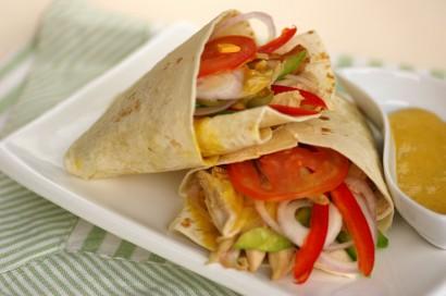 Roast Chicken Tortilla Wrap