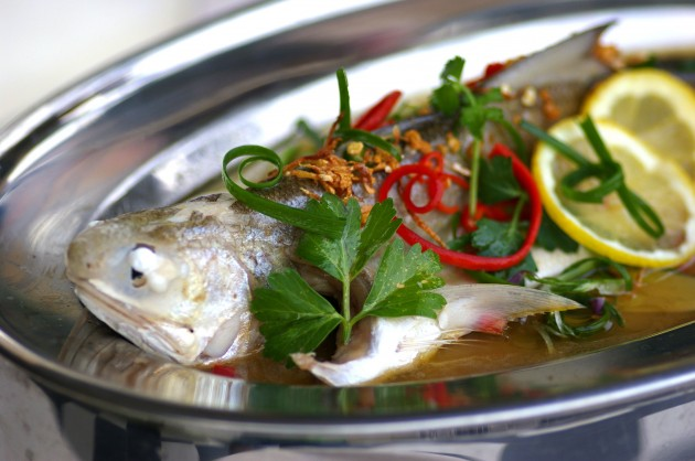 Steamed Fish in Tangy Lemon Sauce