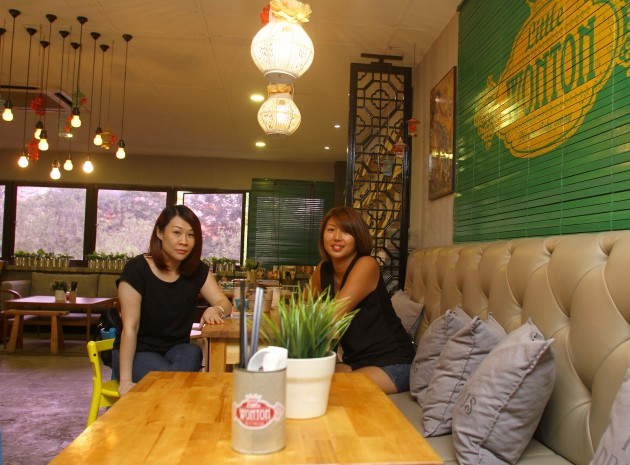 Friends of 20 years, Bernice Cheong, 38 (left), and Elyn Pow, 37, decided to open up Little Wonton after Pow experimented on snack foods in her own kitchen.