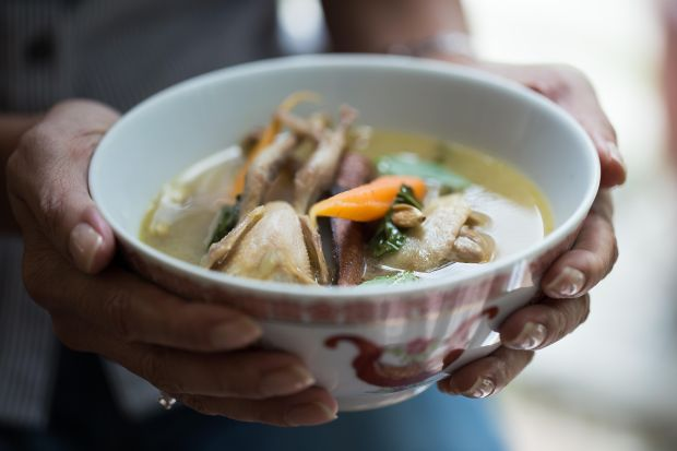 asian basil quail soup
