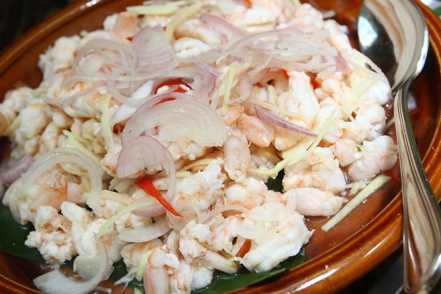 Umai Udang, a type of prawn salad is a traditional dish that is available during the fest.