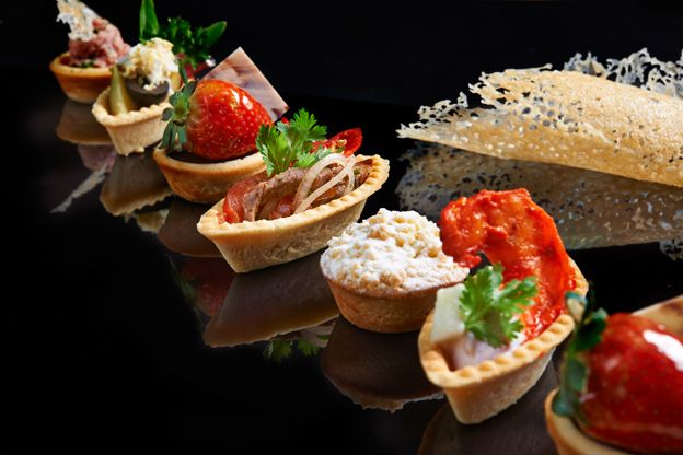 A line-up of mouthwatering tartlets.