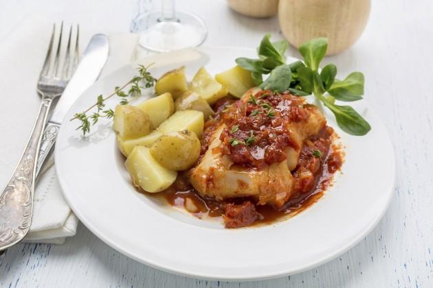 Tomato & thyme cod