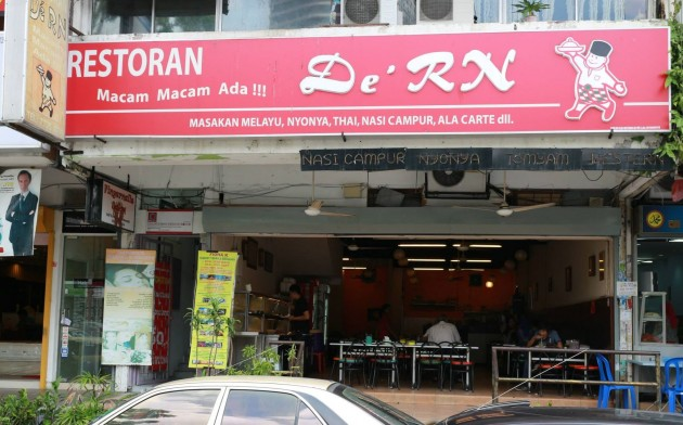 Restoran De'RN is located off Jalan Tun Mohd Fuad.