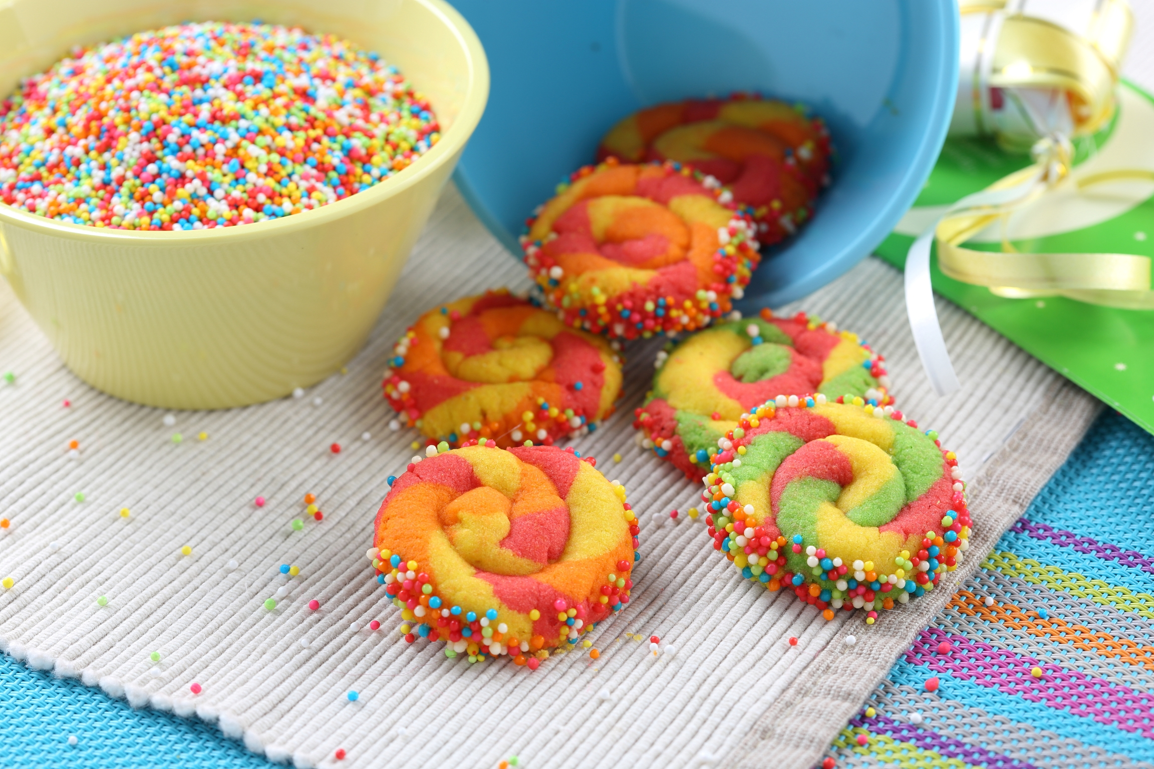 Colourful Wheel Cookie