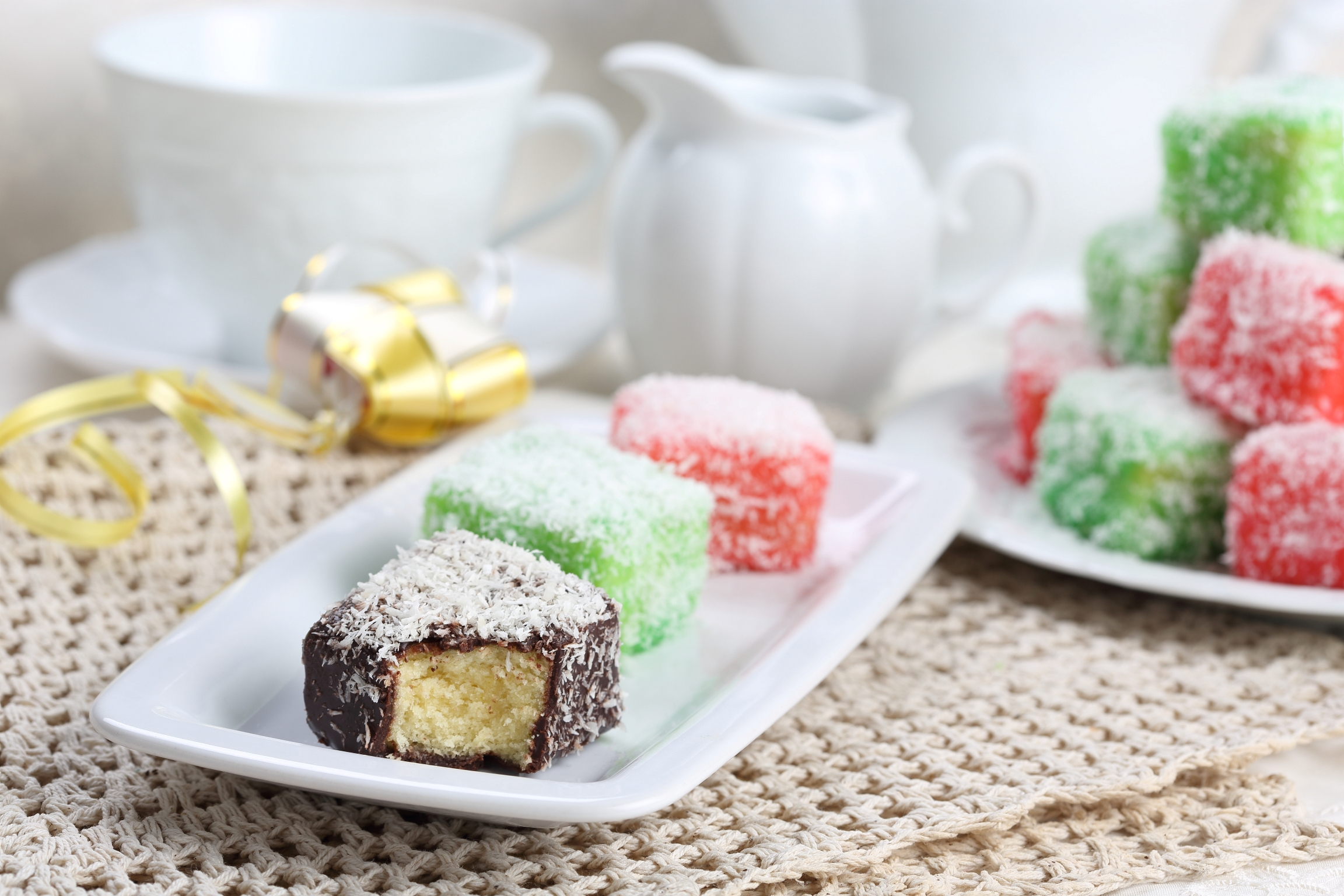 Colourful Lamington