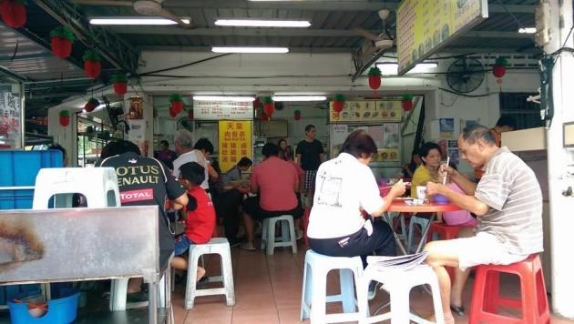 Customers having their breakfast in the coffeeshop.