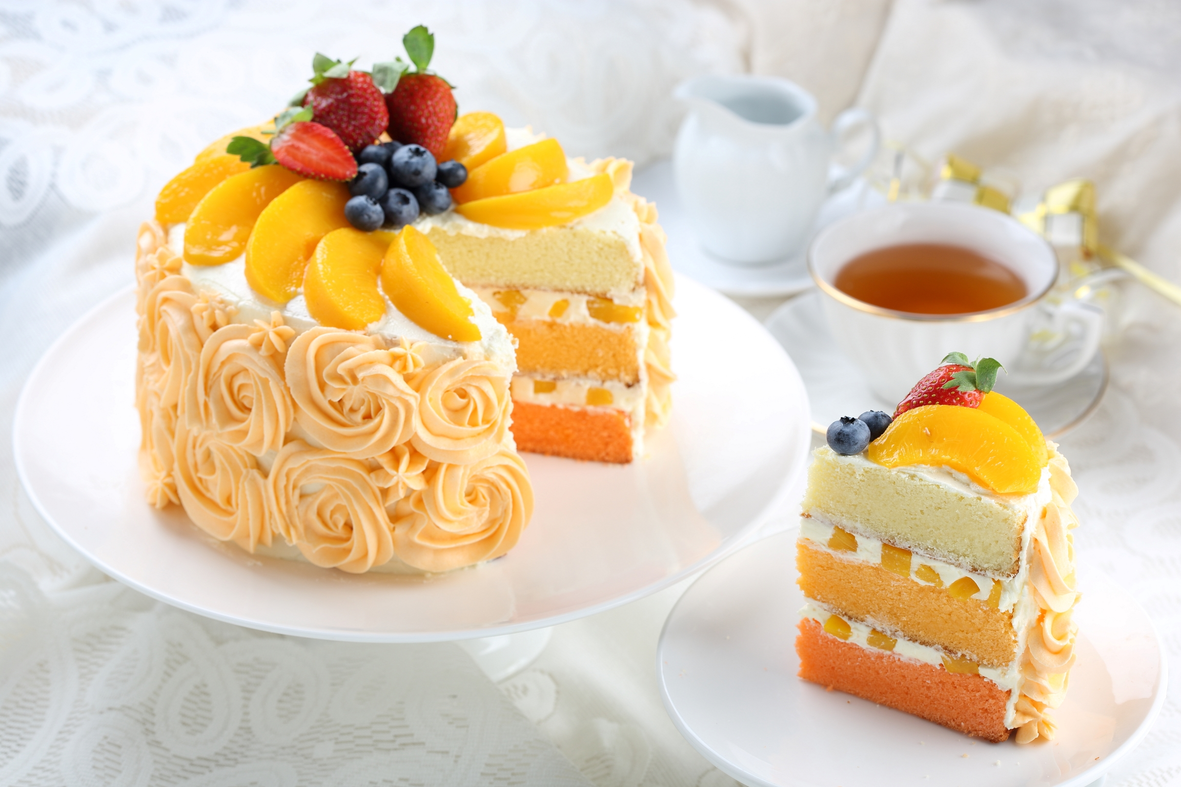 Cake Images With S : Peach Cake - Kuali