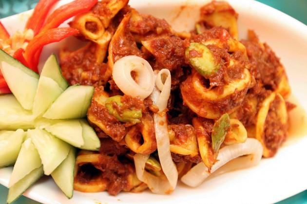The delicious sambal petai sotong is one of the top picks at the Tonka Bean Cafe at Impiana Hotel KLCC.