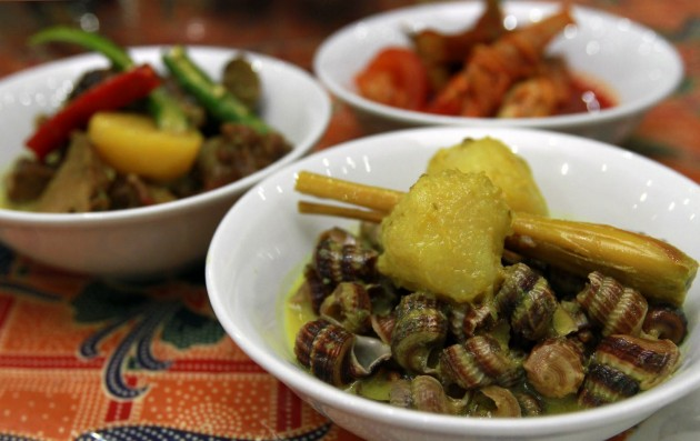 Typical Malay dishes – they appear simple but have remarkable depth of flavour.