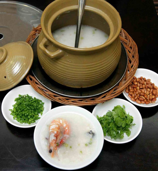 This simple porridge, a hallmark of teochew food, is certainly not plain.