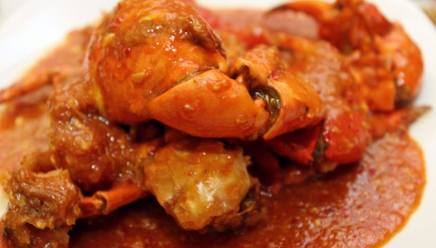 Wok-fried Chili Meat Crab.
