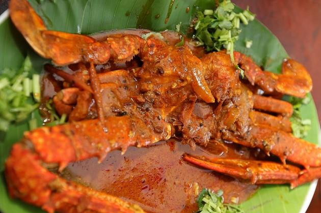 A tasty crab curry.