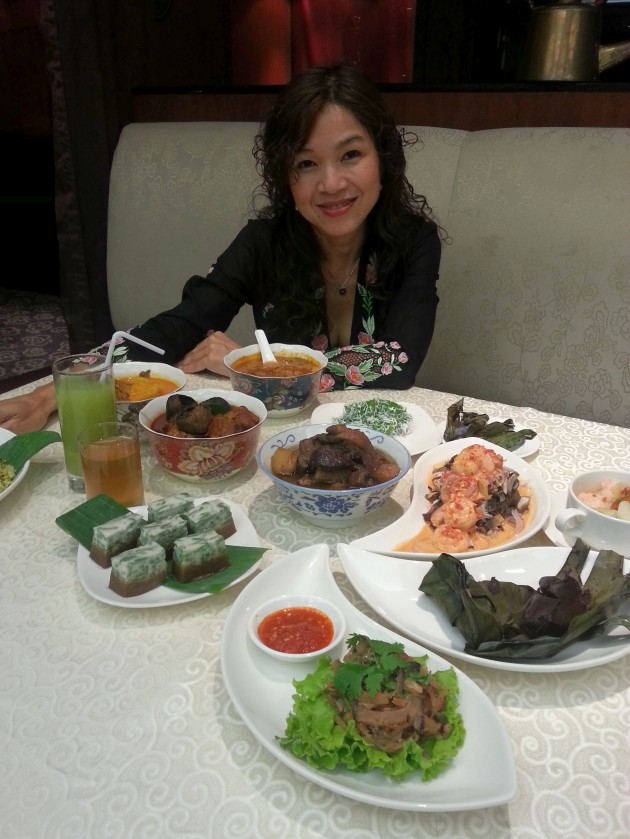Chef Debbie Teoh with some of the highlights of Nyonya cuisine.