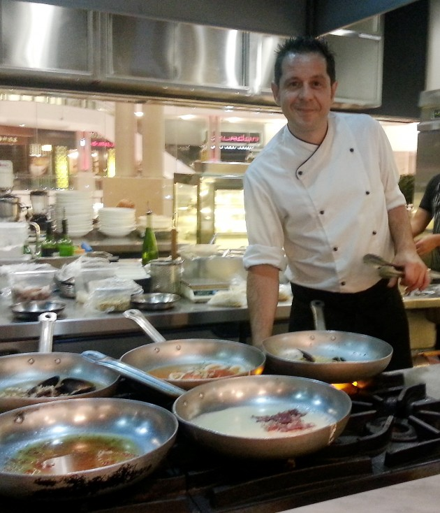 Gaetano brings his simple cooking style to Spasso Milano.