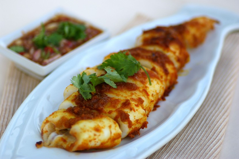 Grilled Squid with Cincalok Salsa