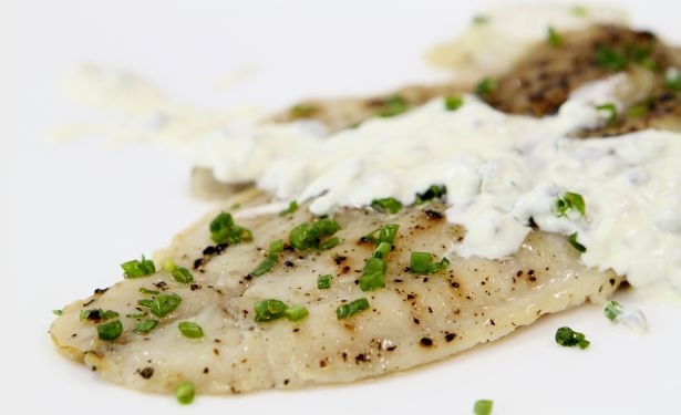 Steamed doryfish