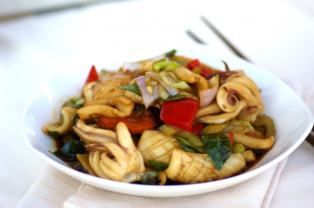 Stir-fried Szechuan Style Cuttlefish