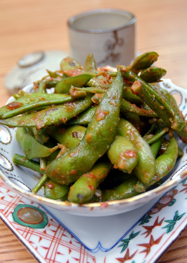 The Edamame is different as it has chilli, fermented bean and miso paste in it.