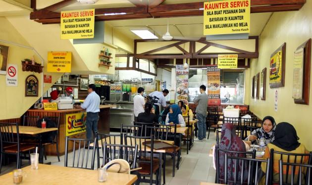 The interior of Sate Kajang Hj Samuri outlet in Damansara Utama.