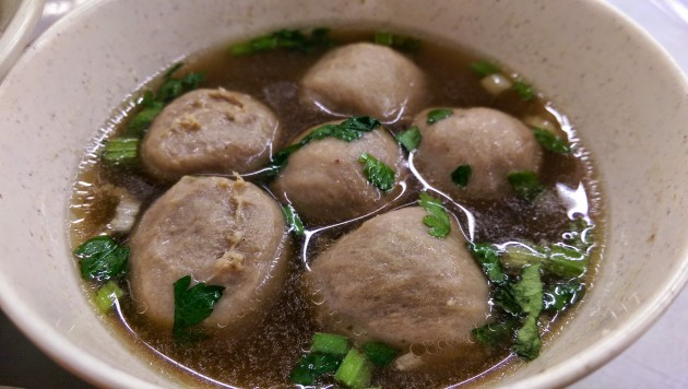 Beef meat balls, best with chilli sauce for that added kick.