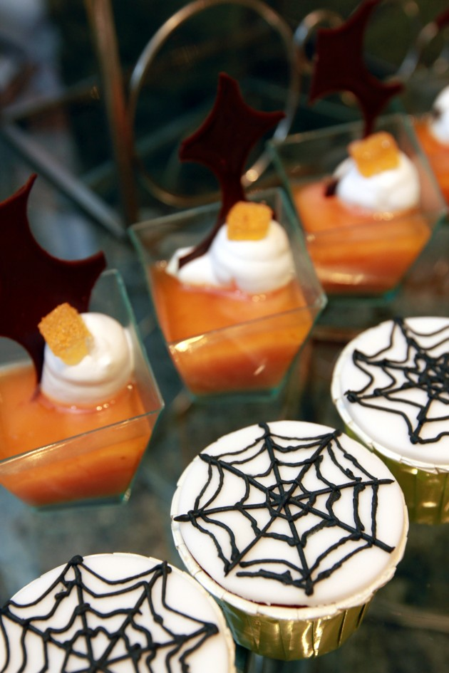 Enjoy a motley of Halloween-themed desserts.