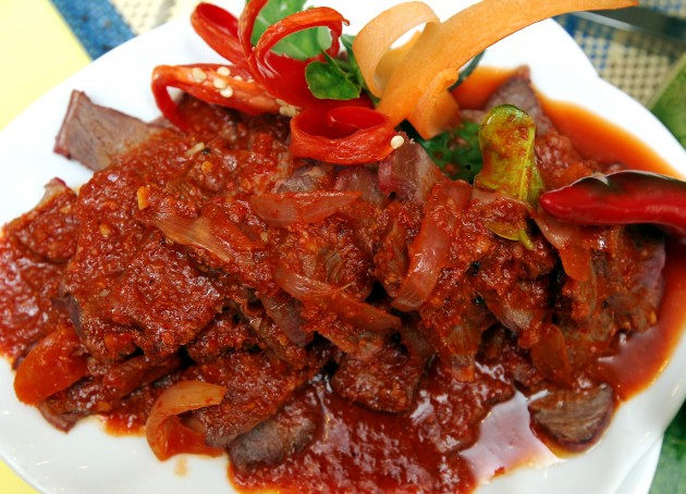 Spicy beef is among the offerings.