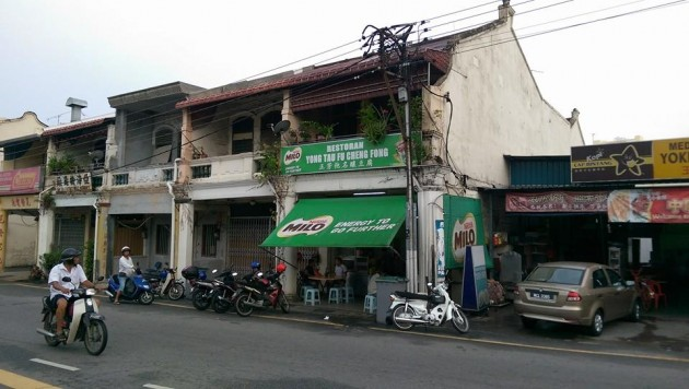 The Cheng Fong noodle shop is located in Jalan Temenggong, Malacca.