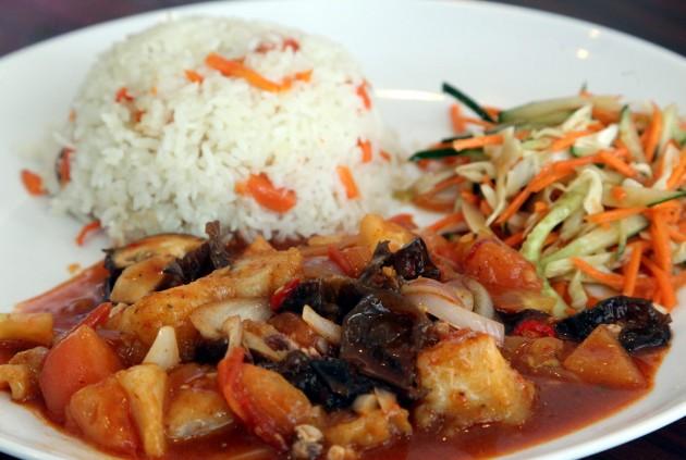 Xinjiang Polo Rice with Fish.