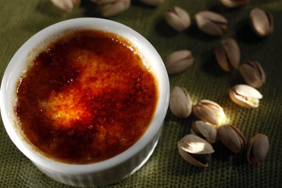 Bacara's Pistachio Creme Brulee.Click for recipe here.