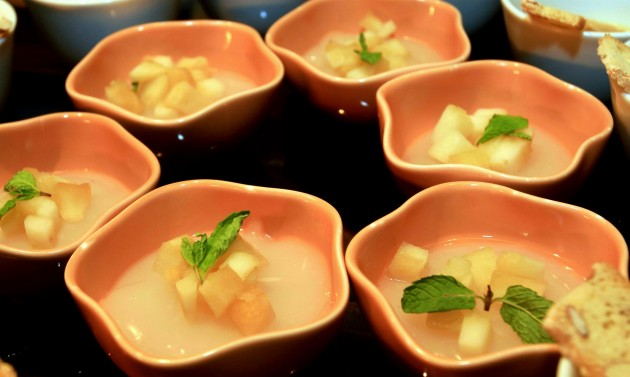 Menjar Blanc with Apples in Olive Oil from the dessert section.
