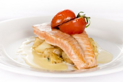 Pan-fried Salmon with Potatoes