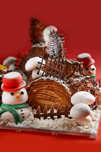Christmas themed desserts.
